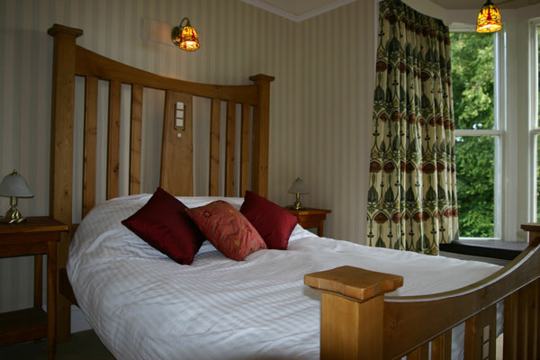 Culter Fell Bedroom with a king size bed with Egyptian cotton bedding and a very comfortable mattress
