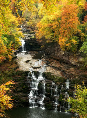 Falls of Clyde in Autumn - photograph by Rob Wareman