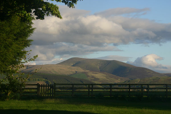 Culter Fell seen from Cormiston Farm Bed and Breakfast
